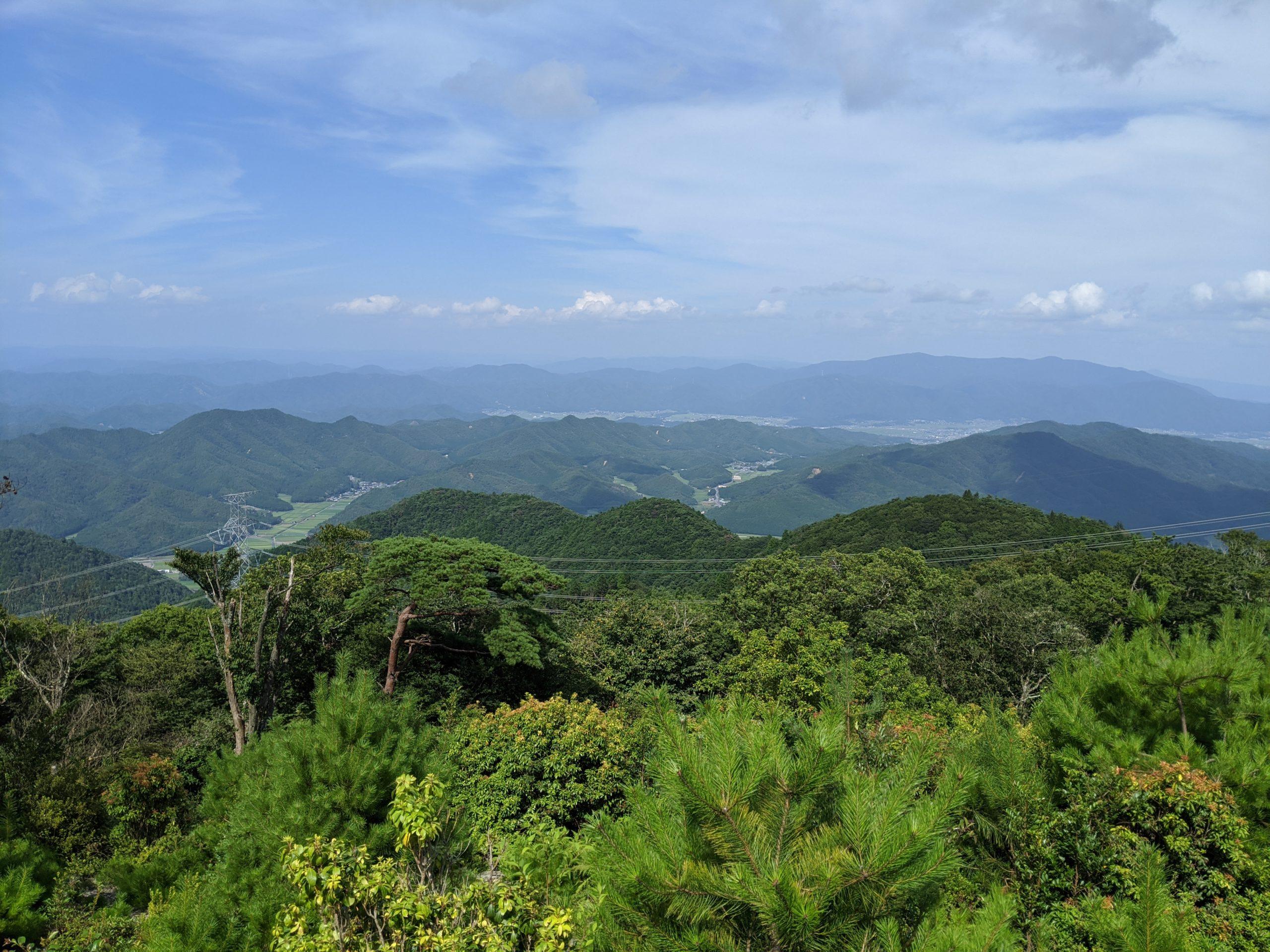 半国山頂からの景色
