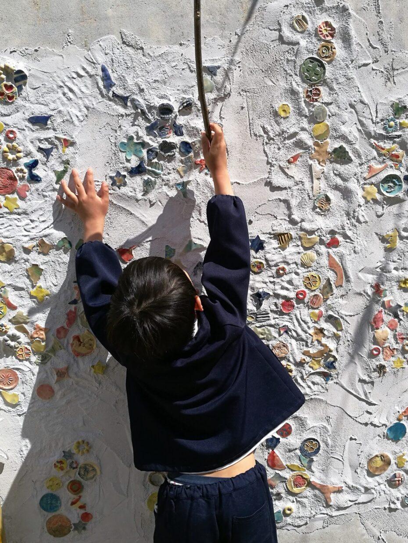 壁画と子ども